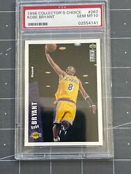 1996 Upper Deck Collectorand039s Choice Kobe Bryant Rookie Lakers 267 Psa 10 2