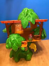 1976 Vintage Weeble Wobble Tarzan Jungle Hut With Weebles Rare Find