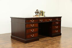 Mahogany Vintage Library Or Executive Office Desk National Mt. Airy 37024