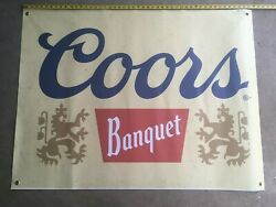 Coors Banquet Banner, Large 48 X 36 Beer Advertising