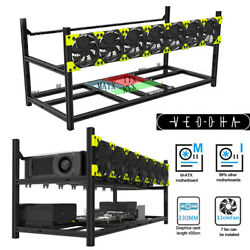 Veddha Professional 8 Gpu Miner Case Stackable Mining Case Rig Open Air Frame