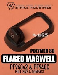 Strike Industries Polymer Flared Magwell For Poly80 Polymer80 / Glock 17 And 19