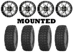Kit 4 Sti X Comp Atr Tires 30x10-14 On Frontline 556 Machined Wheels Can