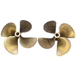 Zf Fps Faster Brass 24 Inch X 26 Pit 4 Blade Boat Prop Propellers Set Of 2