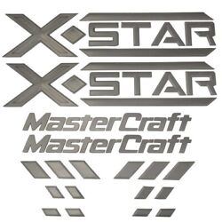 Mastercraft Boat Raised Decals 7501597 | X Star Silver 10 Pc Kit