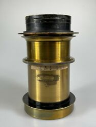 Bausch And Lomb Brass Lens Series 3b F4 6 1/2 X 8 1/2 Extra Rapid Portrait
