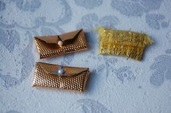 Sindy selection of gold bags purses x 3 GBP 2.99