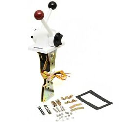 Uflex Boat Throttle Control B101   Two Lever Top Mount White Red
