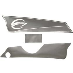 Crownline Boat Arch Foot Decal 22066 | Portside Silver Set Of 3