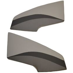 Lund Boat Bow Cushions | 17 / 18 Crossover Gray Black Set Of 2
