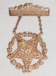 Antique Ladies Of G.a.r. Past Department President Oklahoma Gold Medal