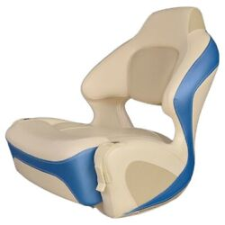 Chaparral Boat Helm Seat 31.00173   Bolster Off White Bright Blue