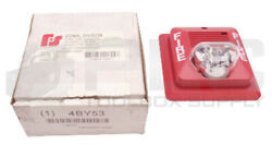 New Federal Signal Fsf200st-024r Red Horn/strobe Fire Alarm, 24v, 4by53