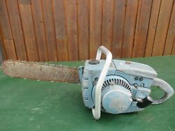 Vintage Homelite C-5 Chainsaw Chain Saw With 17 Bar