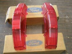 Nos Oem Ford 1969 1970 Galaxie Station Wagon Tail Light Lenses Squire Lens Pair