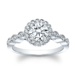 Real 0.85 Ct Brilliant Cut Solid 14k White Gold Diamond Engagement Ring Size 5 6