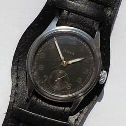 Rare Military Watch Pilots German Army Doxa Dh Of Period Ww2 Steel Case