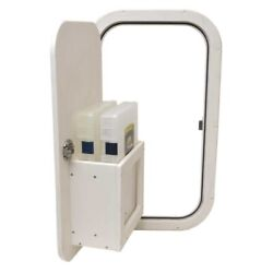 Chaparral Boat Access Door 33097-19542 | With 2 Tackle Box Off White
