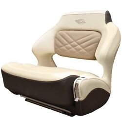 Chaparral Boat Helm Seat 31.00725   307 Ssx Wide Bolster Cream Brown