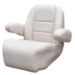 Avalon Pontoon Boat Captains Helm Seat 126809   Wide Pearl Gray