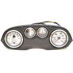 Lund Boat Gauge Panel 2207752   Spin Silver Series 14 3/4 X 5 1/4 Inch