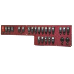Wellcraft Boat Switch Panel 025-4080 | 26 3/4 X 7 3/8 Inch Red Carling