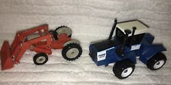 2 Vintage Ertl Farm Tractors - Ford 8n F-3 And Ford Fw-60