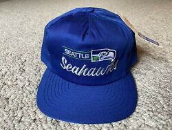 Vtg New 90's Seattle Seahawks Snapback Hat W/tags - Annco Professional Model Nfl