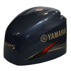 Yamaha 225 Four Stroke Boat Motor Top Cowling / Hood 6bb-42610-00-8d Second