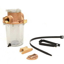 Groco Boat Raw Water Strainer Arg-1000-p   Carver 1 Inch Npt