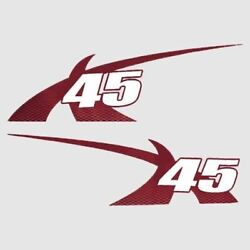 Mastercraft Boat X-45 Decals 7501475   2011 Pro Tour Red Set Of 2