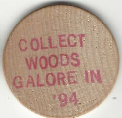 1994 Collect Woods Galore In And03994 Norm Boughton Token Wooden Nickel