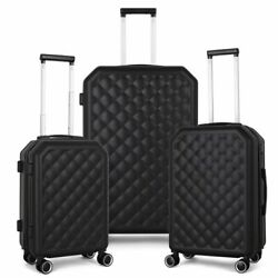 3-piece Luggage Set Hardshell 20/24/28 With Spinners Lock Lightweight Abs+pc