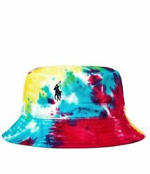 Polo Limited Edition Tye Dye Bucket Hat Pony Logo New With Tags