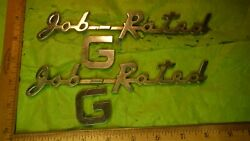 Bc49 Dodge Job Rated G Emblems Vintage 1950s 1397086 And 1399940 Fire Truck Farm