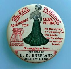Rare 1890-1900 The Elite Petticoat Adjustable And Glove Fitting Advertising Mirror