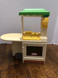 Little Tikes Doll House Furniture Kitchen Sink Oven Green Top