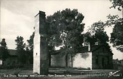 Rppc Fort Bridger,wy Old Store Building And Chimney Uinta County Wyoming Sanborn