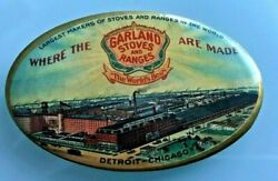 1900 Garland Stoves And Ranges Graphic Factory Litho Pocket Advertising Mirror