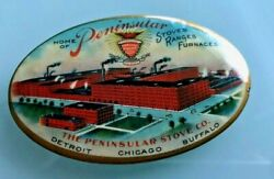 1900 Peninsular Stoves And Ranges Graphic Factory Pocket Advertising Mirror