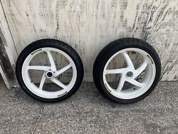 Marchesini Forged Wheels White 17inch Front/ Rear With Tires