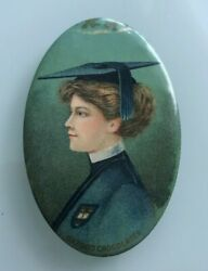 1900 Mazen Confection Company Cap And Gown Graphic Pocket Advertising Mirror