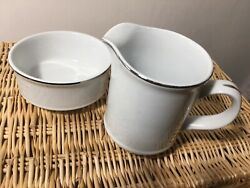 Alfred Meakin Glo White Ironstone Classic Milk Jug And Sugar Bowl Vintage