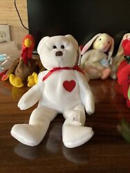 Valentino Ty Beanie Baby Rare Brown Nose, Tag Errors, Pvcpellets, Mint