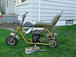 Vintage Cat Muskin Dominator Chopper Minibike And039and039barn Findand039and039 Rolling Parts Bike