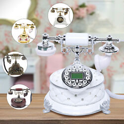 Retro Style Landline Phone For Home Office Vintage Telephone Equipment Accessory