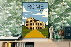 Rome Italy Travel Minima Classic Art Nouveau New Poster Best Gift For Friend