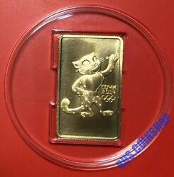 100 Roubles 2011 Russia Rectangular Coin Olympic Leopard Gold Unc