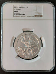 2012-p El Yunque Five Ounce 5 Oz Silver America The Beautiful Atb Ngc-rated Sp70