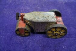 1930's Marx Tin-litho Key Wind-up Steam Roller Car Toy - For Parts/repair